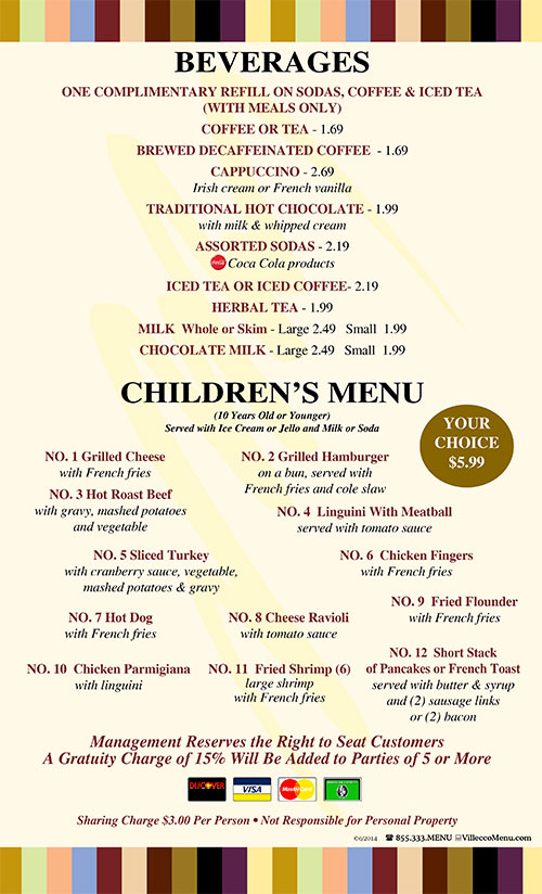 Cherry Hill Diner Menu-Dinner-coupons